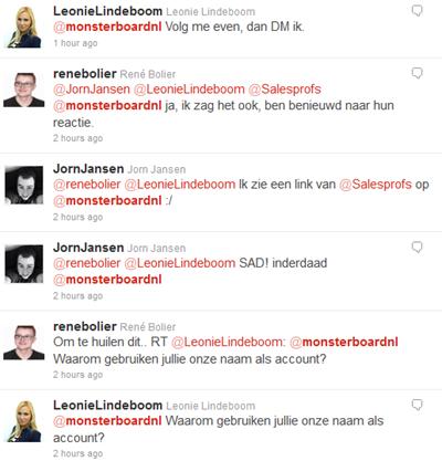 Twitter stream @monsterboardnl