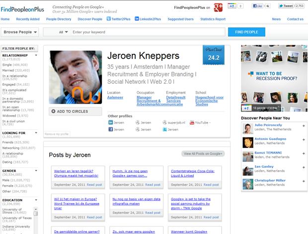 FindPeopleonPlus   Profiel