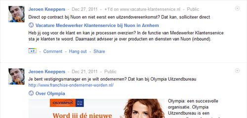 Google+   recente posts van Jeroen Kneppers