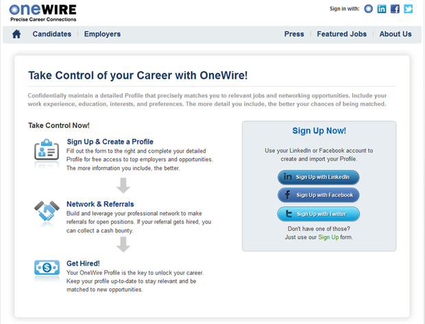 OneWire | Registratie