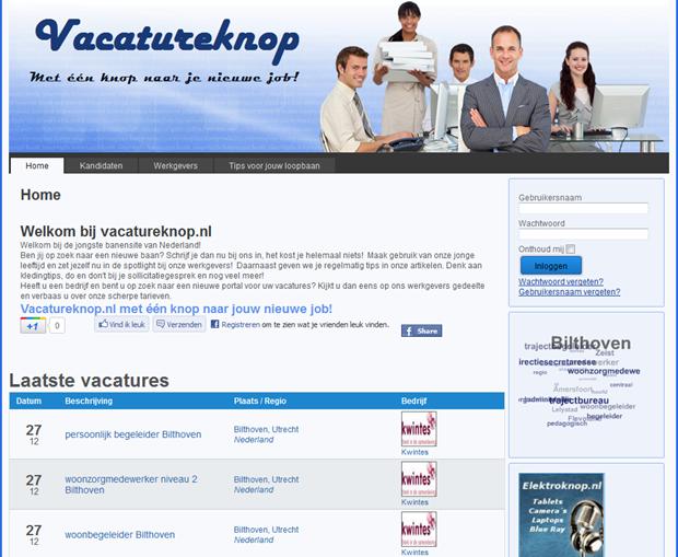 Vacatureknop | Homepage