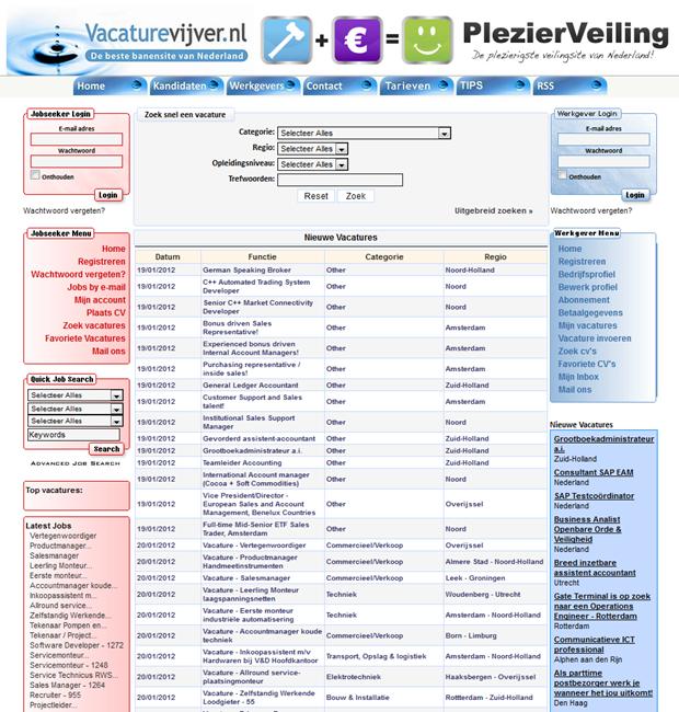 Vacaturevijver | Homepage
