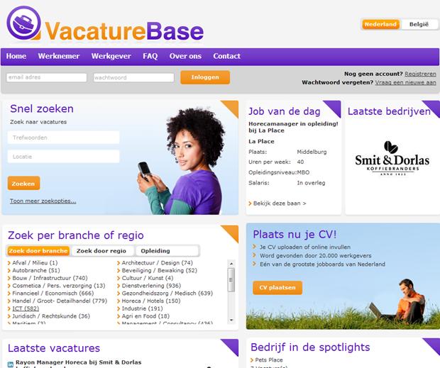 VacatureBase | Homepage