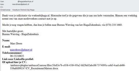 HagaZiekenhuis | E-mail