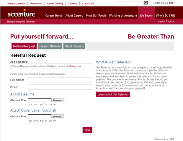Accenture | Referral Request