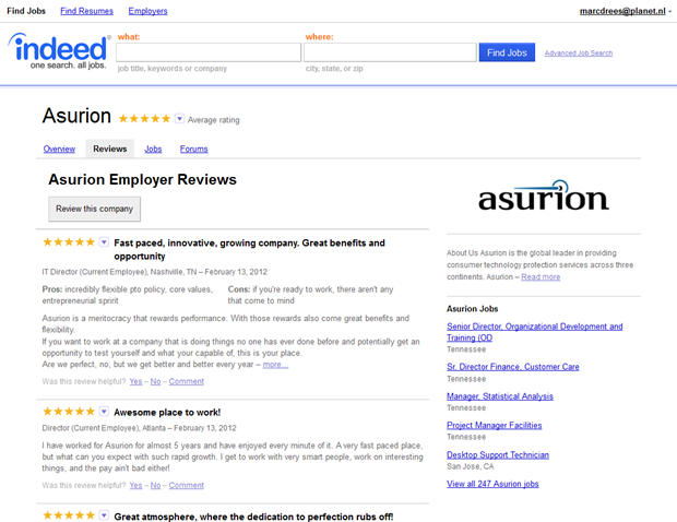Indeed | Best Places to Work | Reviews