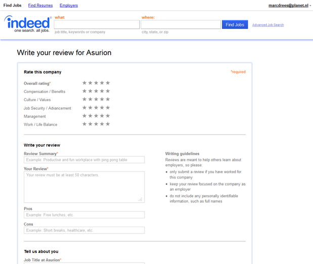 Indeed | Best Places to Work | Write a review