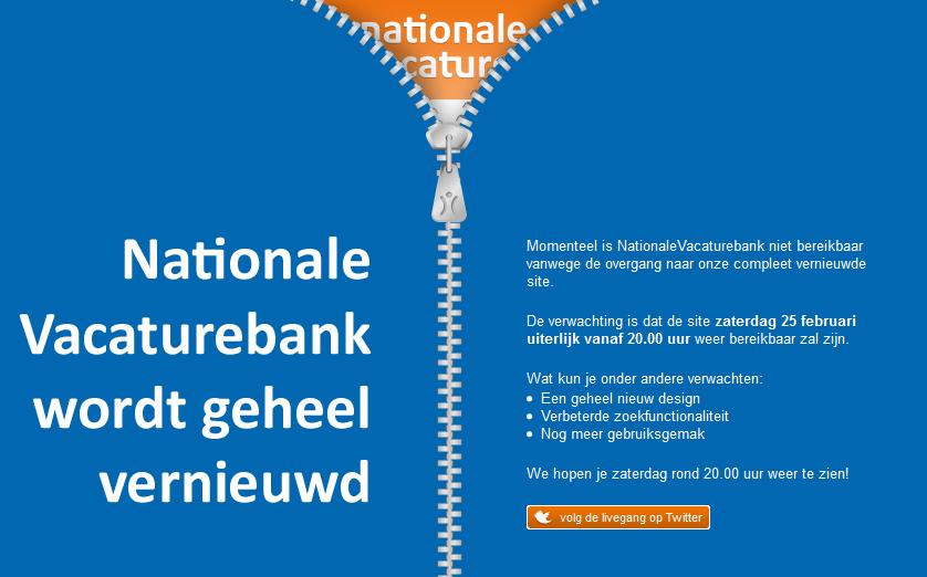 Nationale Vacaturebank wordt geheel vernieuwd