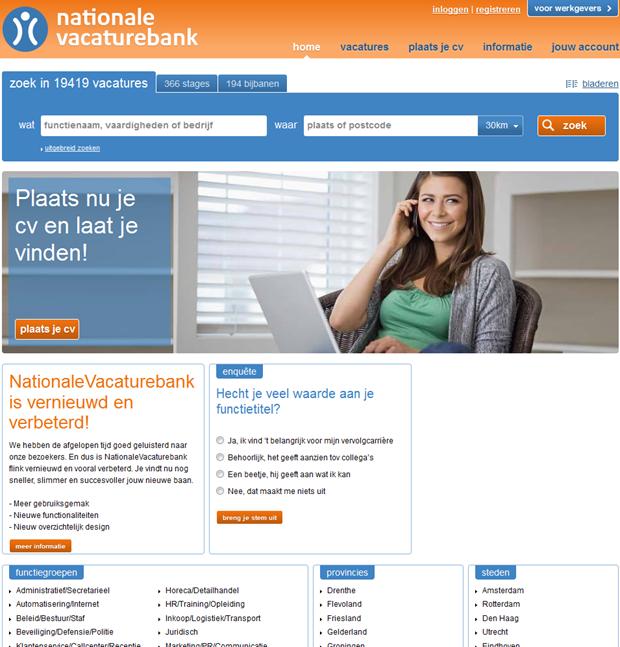 Nationale Vacaturebank | Homepage