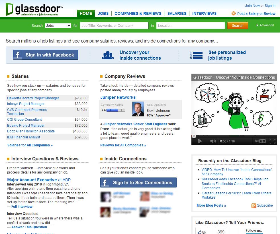Glassdoor | Homepage