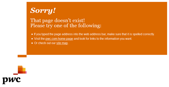 PwC | HTTP 404 page