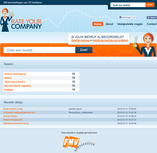 RateYourCompany | Homepage