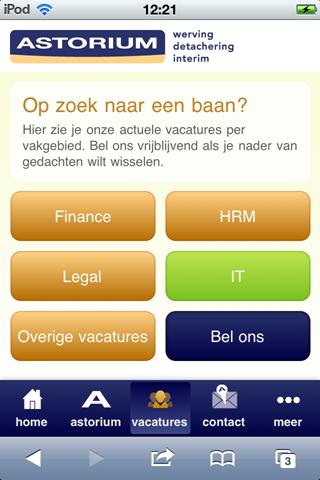 Astorium: mobiele site zonder Apply with LinkedIn ... | 320 x 480 png 84kB