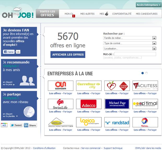 Oh my Job! | Homepage vacaturesite