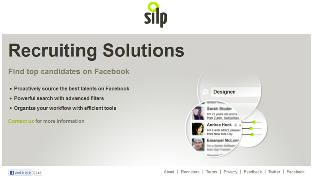 Silp | Recruiterpropositie