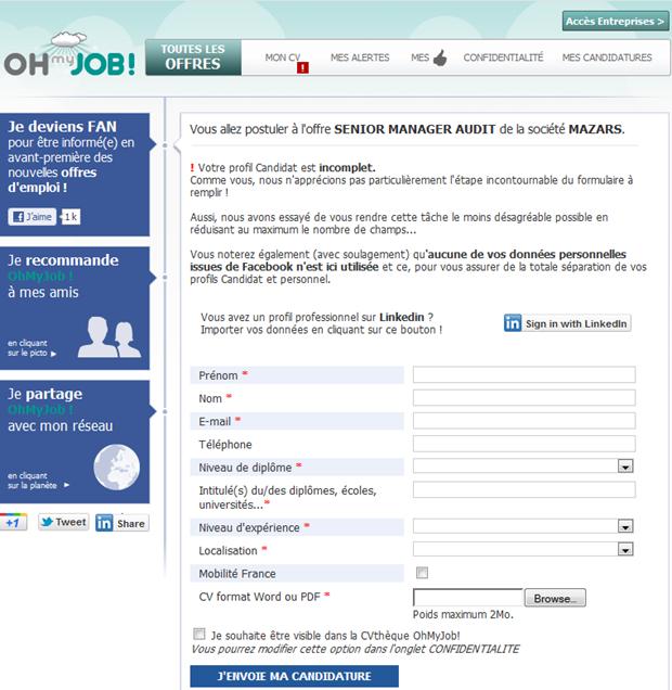 Oh my Job! | Sollicitatiepagina