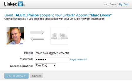 Philips | LinkedIn autorisatie