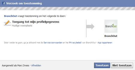 Facebook | Verzoek om toestemming