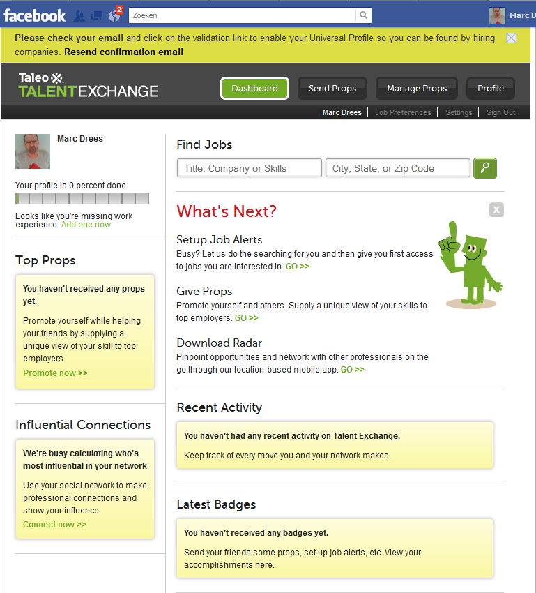 Talent Exchange | Dashboard