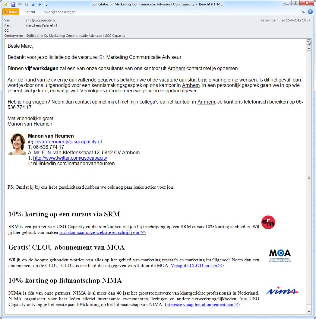 USG Capacity | E-mail