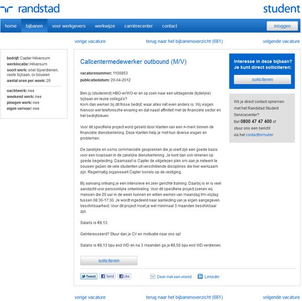 Randstadstudent | Vacaturepagina