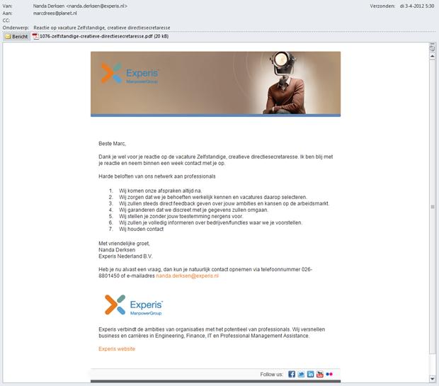 Experis | E-mail