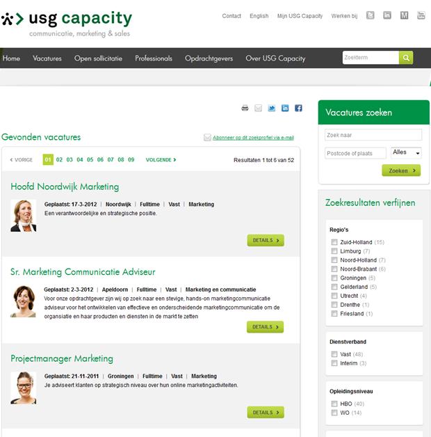 USG Capacity | Zoekresultaat