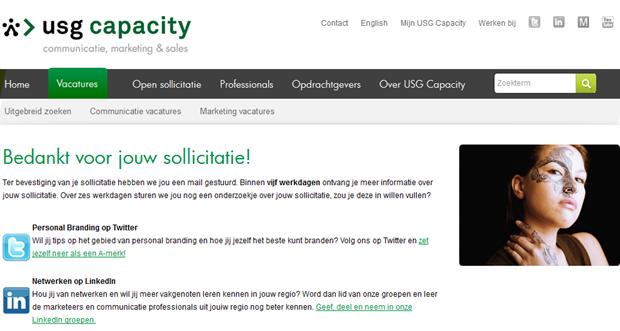 USG Capacity | Bedankje