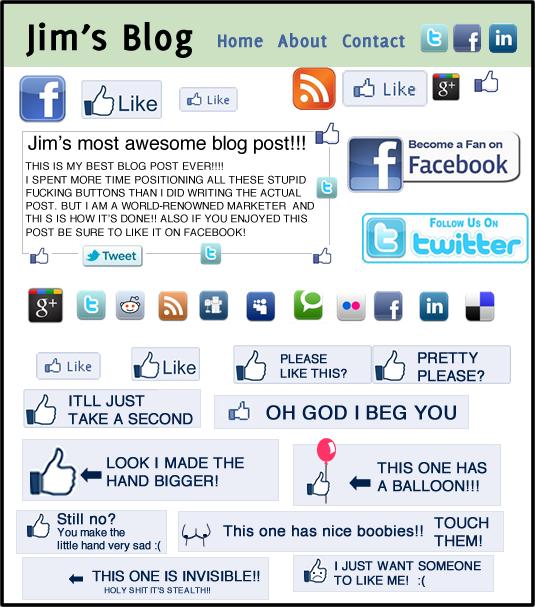 The Oatmeal: Facebook likes
