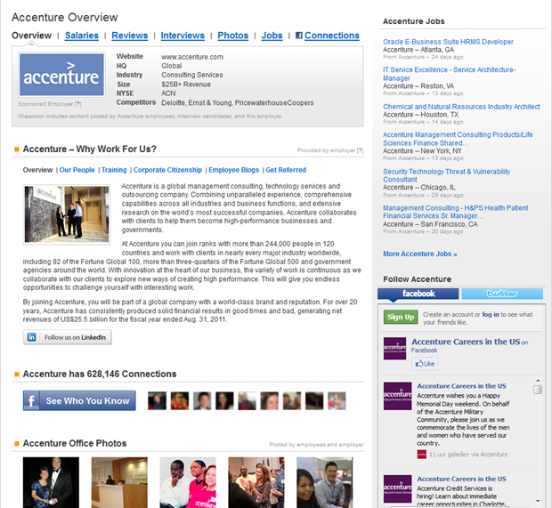 Glassdoor   Accenture