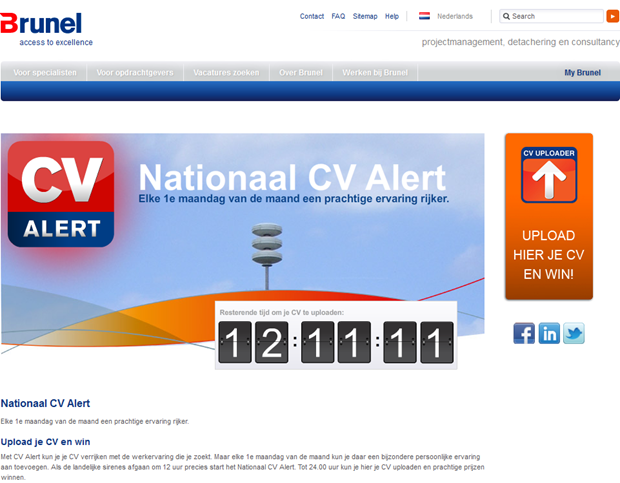 Brunel | Nationaal CV Alert