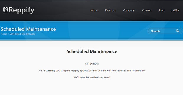 Reppify | Scheduled maintenance