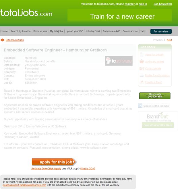 Totaljobs   Vacaturetekst