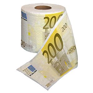 Euro wc-papier