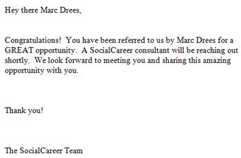 SocialCareer   E-mail