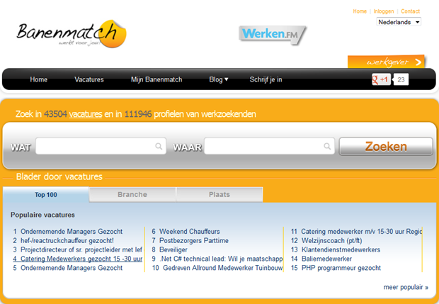 Banenmatch | Homepage