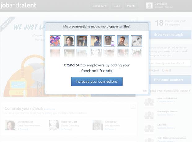 Jobandtalent | Dashboard met overlay