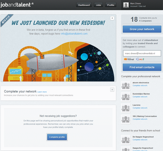 Jobandtalent | Dashboard