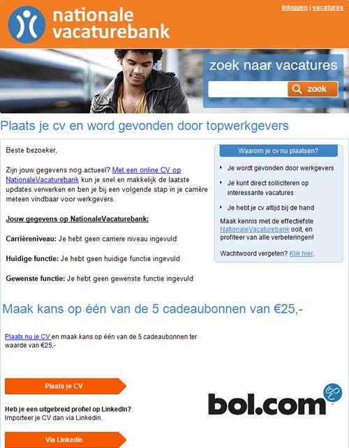 E-mail Nationale Vacaturebank
