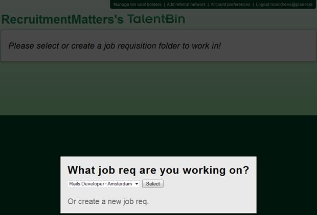 TalentBin | Job req