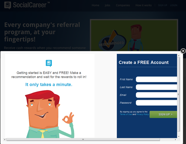 SocialCareer   Registratie, 1