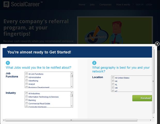 SocialCareer | Registratie, 2