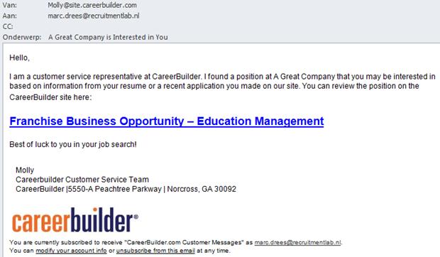 E-mail CareerBuilder