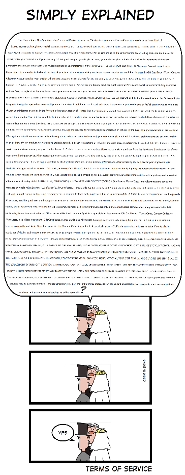 Geek & Poke: Terms of Service