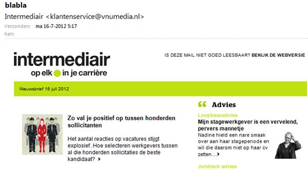 Intermediair | E-mail nieuwsbrief