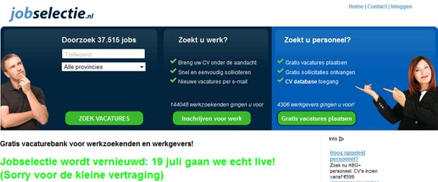 Jobselectie | Homepage