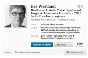 "Nieuwe ""Top Card"" LinkedIn profiel"