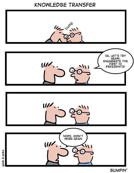 Geek & Poke: Knowledge transfer