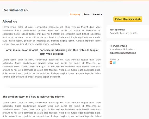 UpTeam | Homepage wervingssites RecruitmentLab