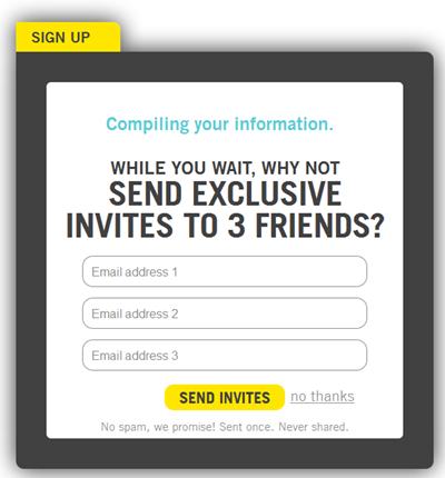 Vizify | Sign up, 3